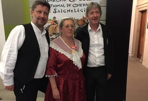 vlnr: Johannes Schmid-Kunz, Projektleiter; Monica Péter-Cntesse, Geschäftsleitung STV, Gérard Queloz, OK-Präsident (Bild: zVg)