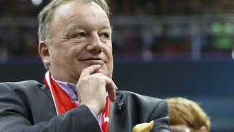 René Stammbach, der Präsident von Swiss Tennis, als Zuschauer beim Fed Cup.