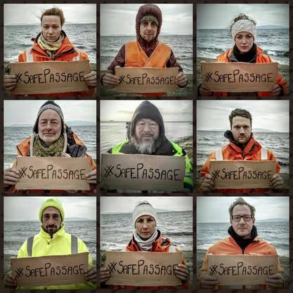 """Die internationale Bewegung """"#safepassage"""" erhält prominente Unterstützung vom chinesischen Künstler Ai Weiwei."""