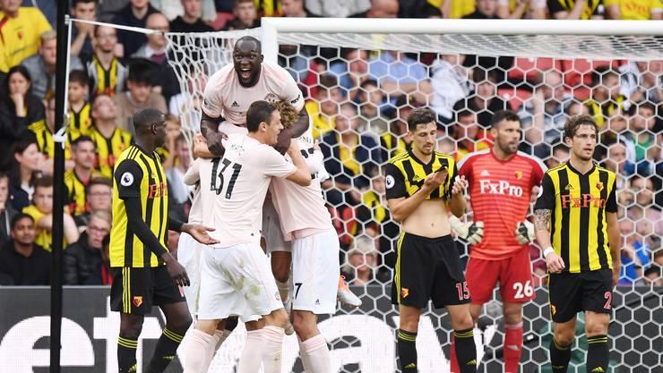 Romelu Lukaku ist obenauf: Der Belgier schoss gegen Watford schon sein viertes Saisontor in der Premier League.