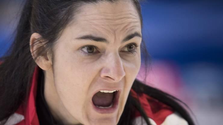 Binia Feltscher war im Curling mit Leib und Seele bei der Sache