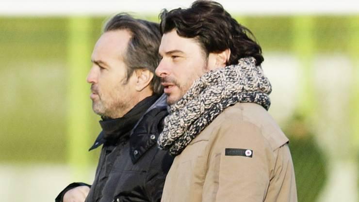 Martin Rueda (hinten) feierte einen Sieg gegen seinen ehemaligen Mitstreiter Ciriaco Sforza.