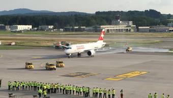 Die Bombardier-Maschine vom Typ C-Series-100 ist das neue Flugzeug der Swiss. Erstmals landet sie in der Schweiz.