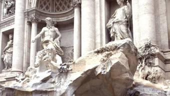 Teil des Trevi-Brunnens (Archiv)