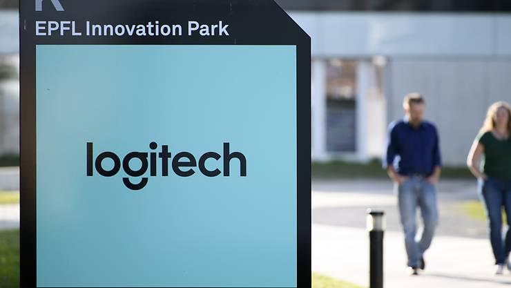 Der Umsatz ist gestiegen: Logo des Computerzubehörstellers Logitech (Archivbild).