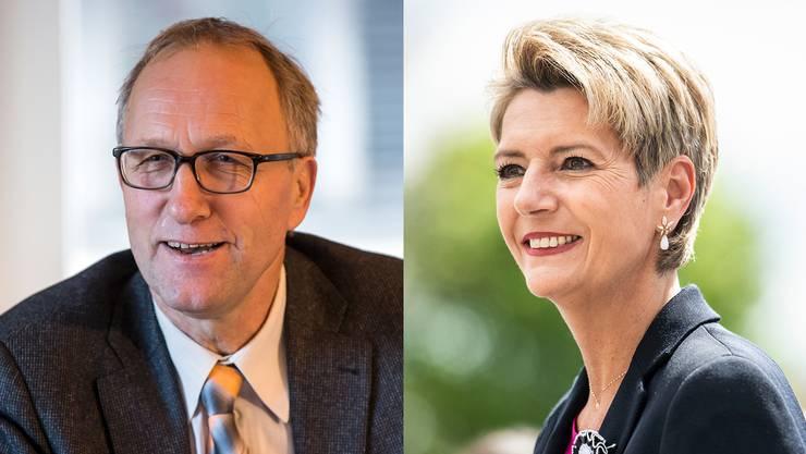 Peter Hegglin will für die CVP in den Bundesrat und Karin Keller-Sutter für die FDP.