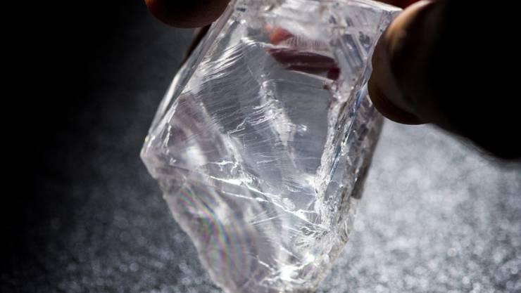 Der vergangenes Jahr verkaufte Lucara-Rohdiamant (Archiv)
