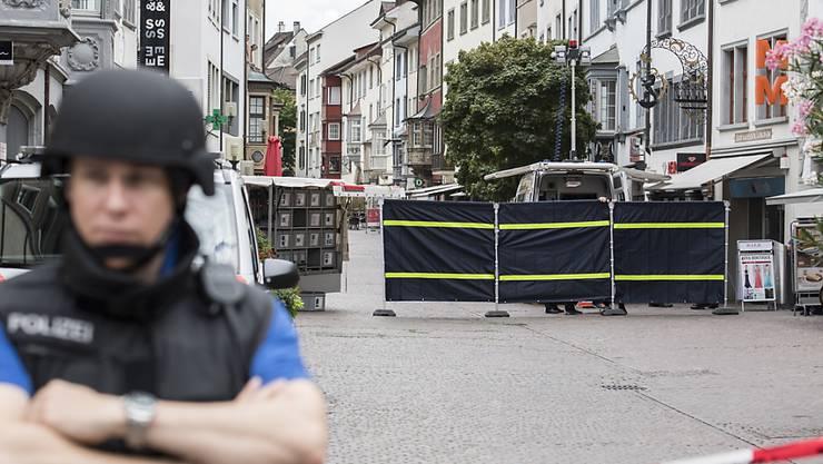 Nach dem Motorsägen-Angriff galt in Schaffhausen der Ausnahmezustand, weil der Täter vorerst flüchten konnte. Erst mit der Festnahme des Gesuchten am Dienstagabend kam die Entwarnung.