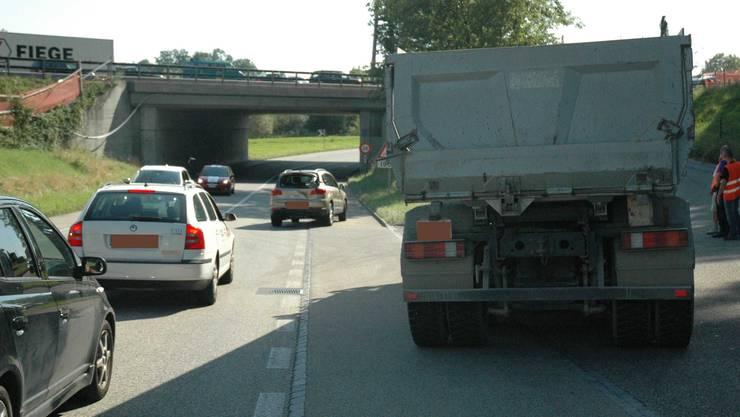 Kollision mit Lastwagen in Olten