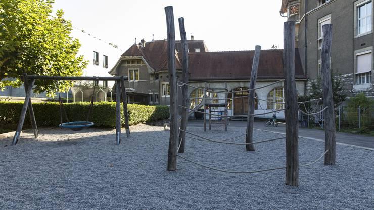 Der Spielplatz beim Schulhaus Hermesbühl