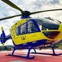 Soll zurück auf den Flugplatz im Birrfeld: der Helikopter der Alpine Air Ambulance.