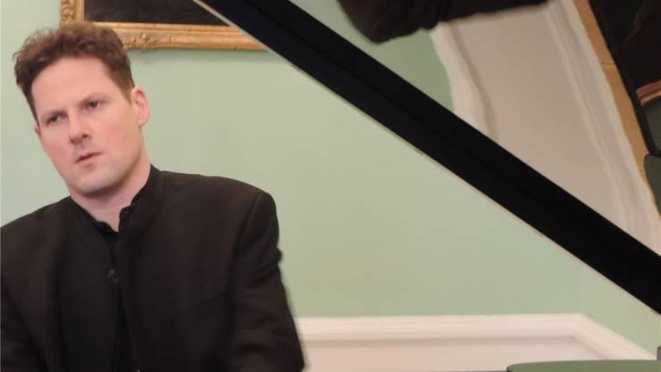 Jeden Januar gastiert der Ennetbadener Pianist Oliver Schnyder in der Villa Boveri. Während dreier Tage spielt er Werke, die ihm am Herzen liegen. Sebastian Bauer/ zvg