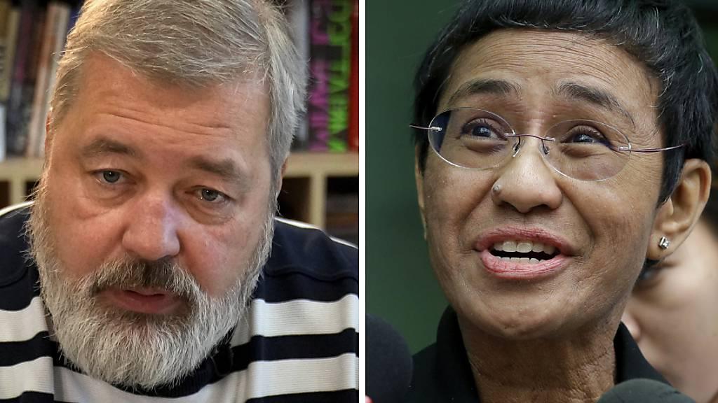 Auszeichnung für bedrohte Medien - Nobelpreis für Ressa und Muratow