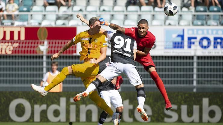 Dieser Ausflug von Lugano-Goalie Baumann bescherte den Young Boys den Treffer zum 1:0.