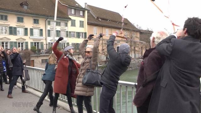 Aktion gegen «No Billag» an Solothurner Filmtagen
