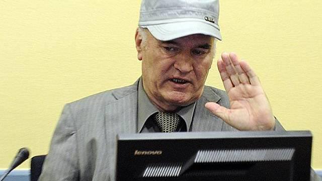 Mladic wollte sich die Anklagepunkte nicht anhören