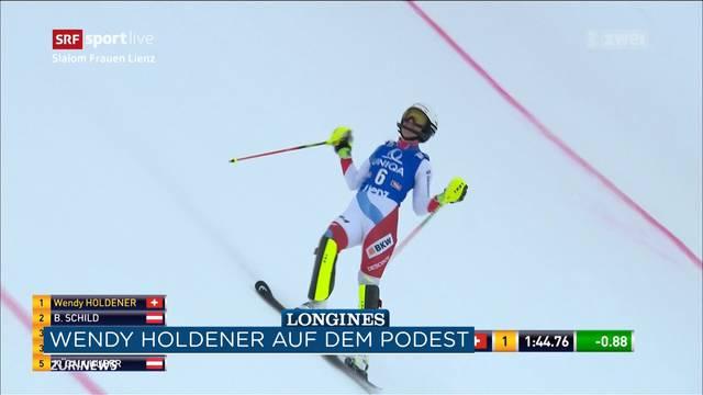 2. Platz beim Weltcup für Wendy Holdener