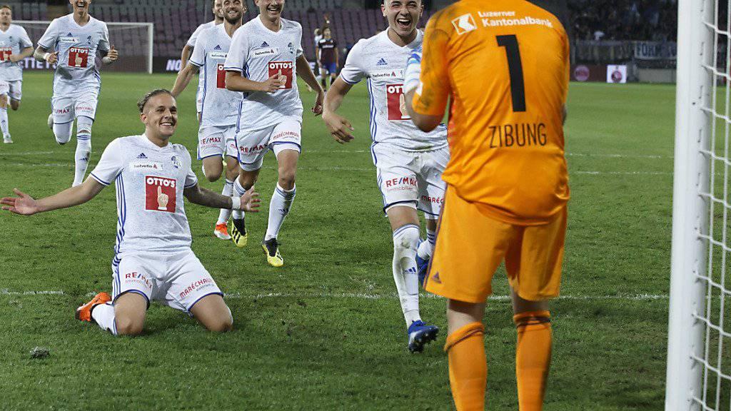David Zibung sei Dank: Luzern übersteht die Cup-Hürde Servette