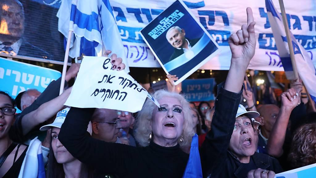 Tausende Israeli demonstrieren für Netanjahu