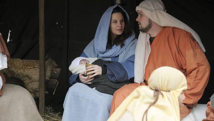 Jesuskind mit Maria und Joseph. (Archiv)