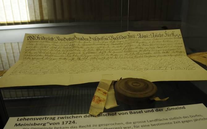 Eien Lehensvertrag mit dem Fürstbschof 1724