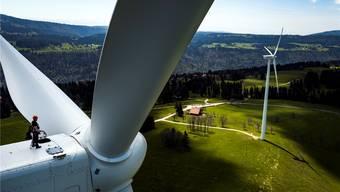 800 Windturbinen müssten in der Schweiz aufgestellt werden.Key