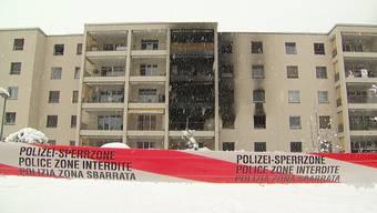 In der Nacht auf Sonntag ist in einem Mehrfamilienhaus in Chur ein Brand ausgebrochen.