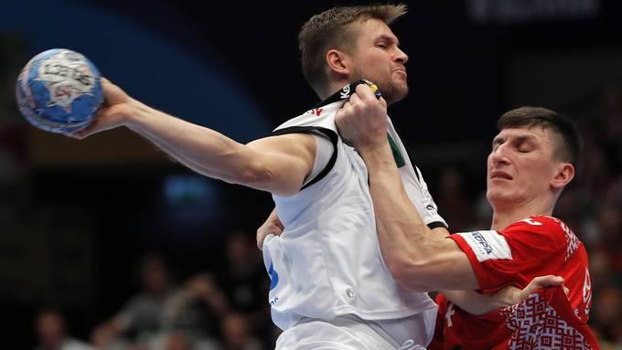 Fabian Bohm fährt mit Deutschland einen überzeugenden Sieg gegen Weissrussland ein.