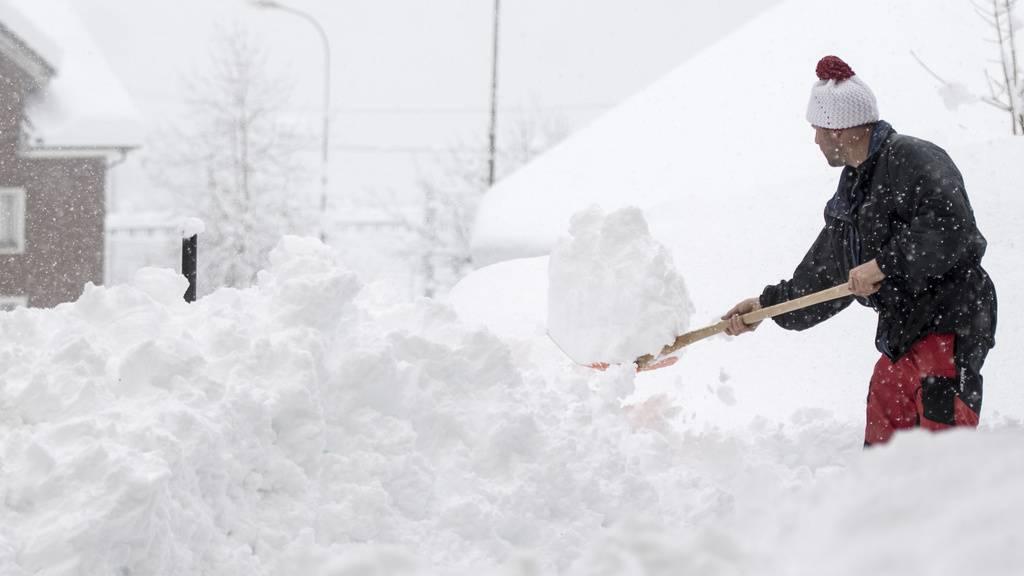 Jetzt kommt eine kräftige Ladung Schnee