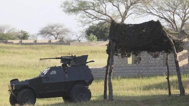 Ein gepanzertes Fahrzeug in Nigeria nach den Anschlägen der Sekte Boko Haram