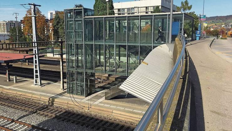 Bei grosser Hitze wird der Lift seit vergangenem Sommer ausser Betrieb genommen.