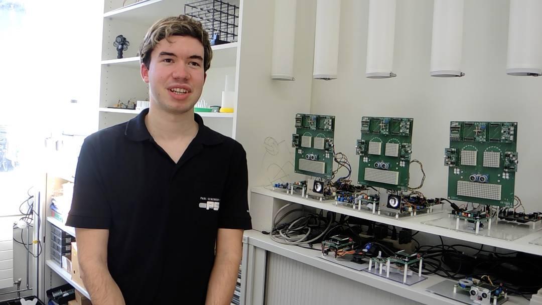 Swiss Skills: Mario Liechti aus Windisch, Schweizermeister Elektroniker EFZ, antwortet auf die Frage, was er sich für die Weltmeisterschaft vorgenommen hat