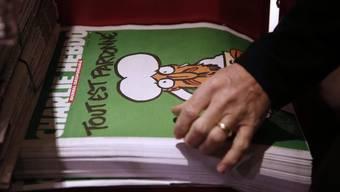 """Die neueste Ausgabe von  """"Charlie Hebdo""""."""