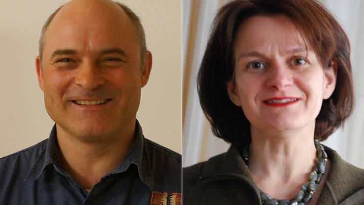 Weiter im Rennen: Markus Fuchs (SP), Pia Simmendinger (parteilos)