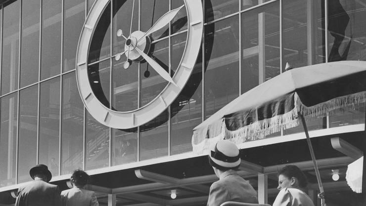 Tempi passati: Die Mustermesse (im Bild von 1954) gibts nicht mehr. Und auch die Beteiligung des Kantons Baselland ist wohl bald Geschichte.