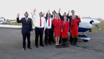 Winken zum Abschied: Der Geref-Vorstand verabschiedet sich von Präsident Christopf Vogel (hinten rechts) und begrüsst Franziska Bircher (vorne 2.v.r.) als Nachfolgerin. nbo