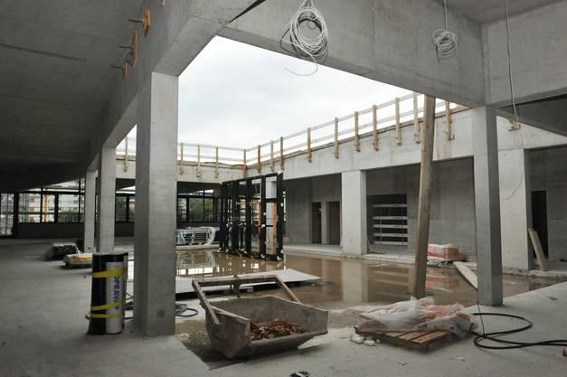 Da war der Neubau noch eine Baustelle: Impressionen vom September 2014.