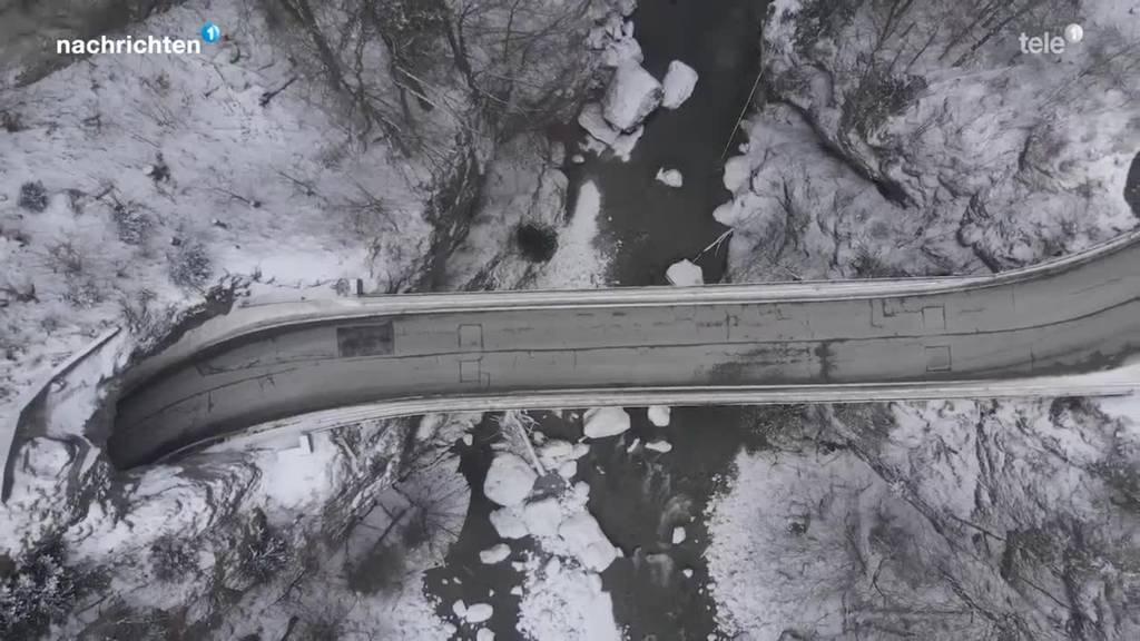 Neue Brücke über Lammschlucht