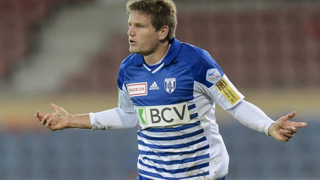 Von Lausanne zum FC Wil: Jocelyn Roux. (KEYSTONE/Jean-Christophe Bott)