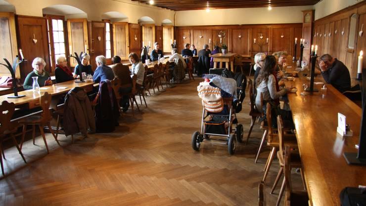 Zur Spitzenzeit war das Refektorium, der Speisesaal des Klosters, bis auf den letzten Platz besetzt.