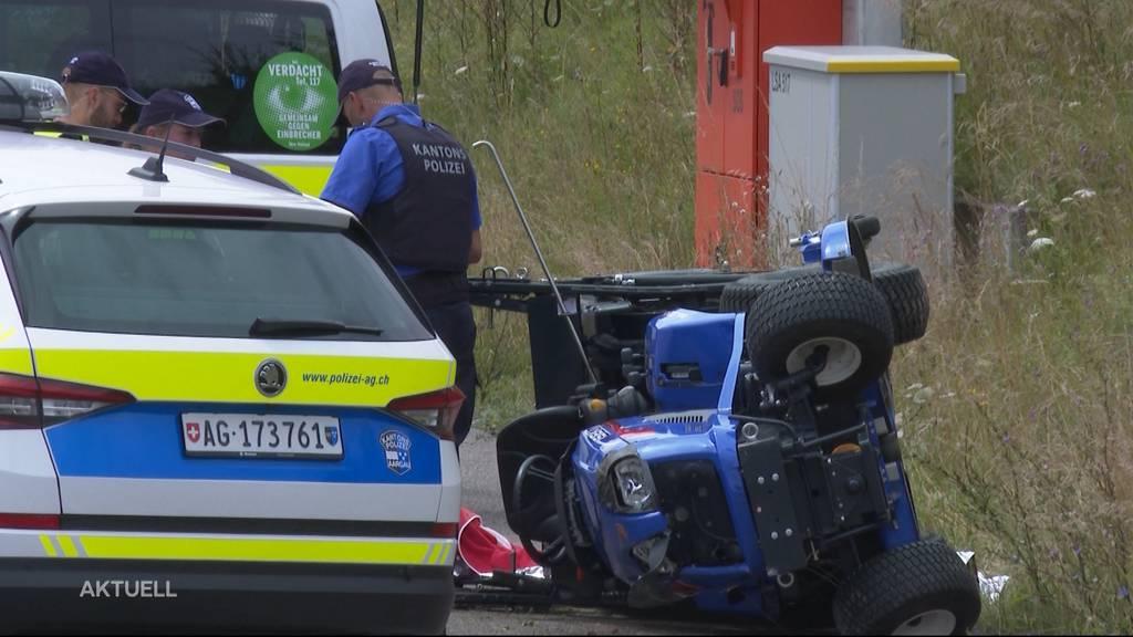 Tödlicher Unfall: 53-Jähriger wird in Oberwil-Lieli vom Rasenmäher überrollt