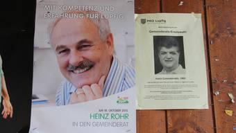 Vor dem 18. Oktober traten die beiden Lupfiger Kandidaten noch gegeneinander an.