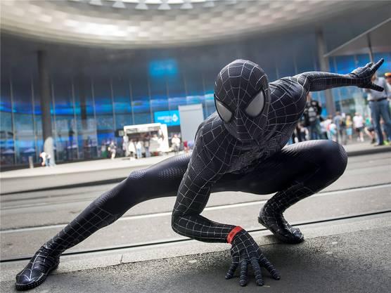 Der böse Spiderman ist auch zu Gast.
