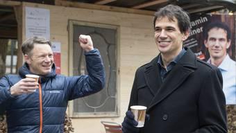 Jonas Fricker freut sich über den Wahlsieg von Benjamin Steiner.