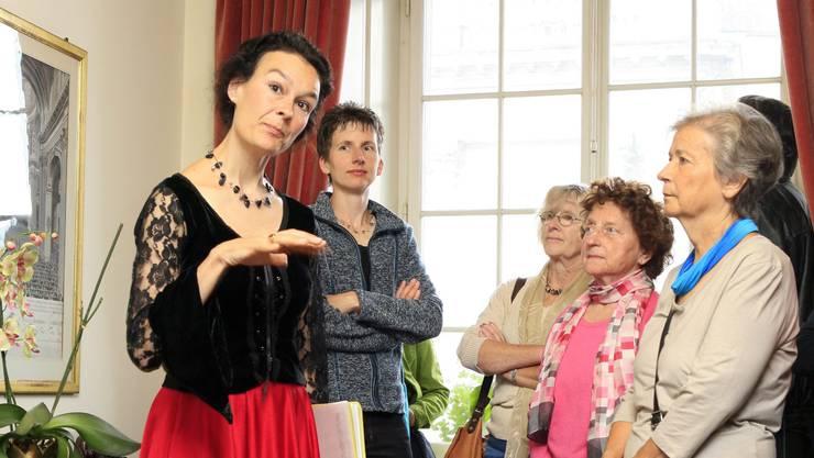 Marie-Christine Egger bei einem ihrer speziellen Anlässe.