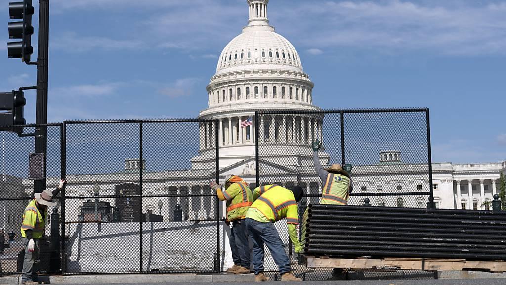 Nach Angriff auf US-Kapitol errichteter Schutzzaun wird abgebaut