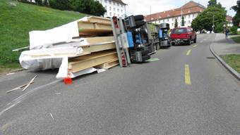Lastwagen umgekippt Muri