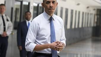 US-Präsident Barack Obama hat als erster Chef im Weissen Haus ein Gefängnis besucht.