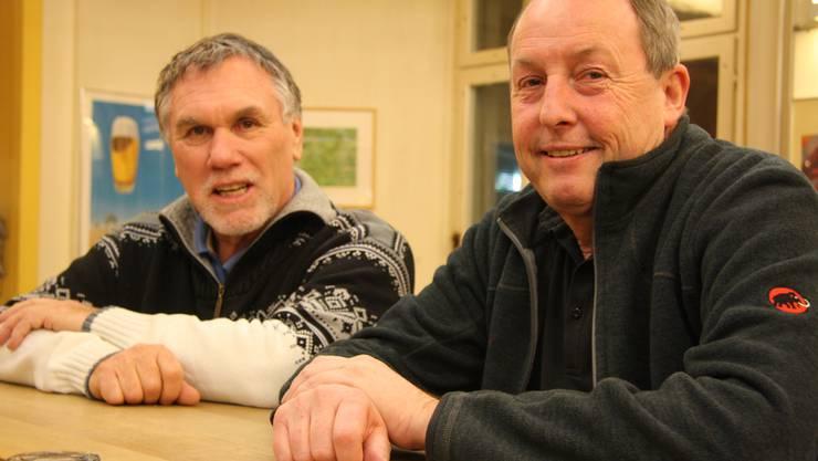 Jakob «Köbu« Gfeller (l.) und Rolf Kohler sind schon seit einigen Jahrzehnten ein Gespann.
