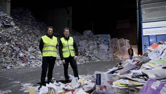 Blick in die Papierfabrik Utzenstorf